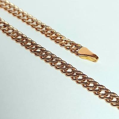Браслет золотой, Двойной ромб с лазерной огранкой - 3,35 гр.