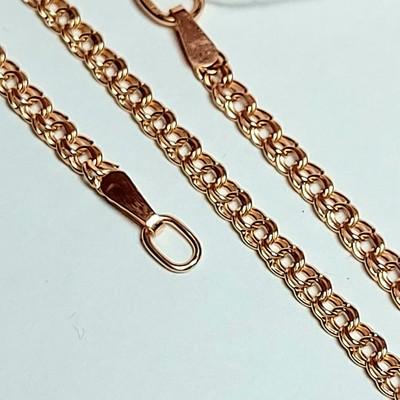 Золотая цепь, Бисмарк с лазерной огранкой - 2,53 гр.