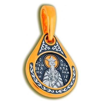 Иконка Образ Святого Праведного Князя Владимира капелька средняя