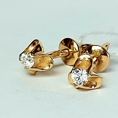 Золотые серьги гвоздики