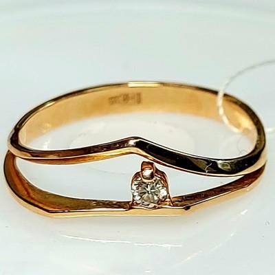 Золотое кольцо с бриллиантом 2,30гр