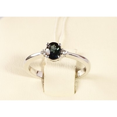 кольцо бриллиант/сапфир
