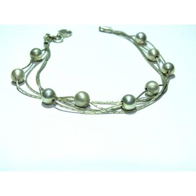 Браслет многослойный серебро - 7,15 гр