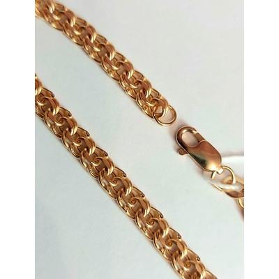 Браслет золотой, Бисмарк с лазерной огранкой - 2,96 гр.