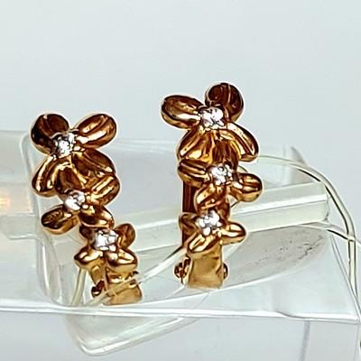 Золотые серьги на маленькую мочку