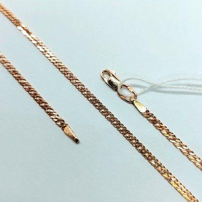Золотая цепь, Двойной ромб с лазерной огранкой - 2,67 гр.