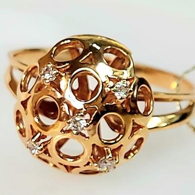 Золотое кольцо - 2,84 гр.