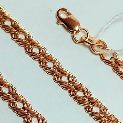Золотая цепь, Тройной ромб с лазерной огранкой - 4,88 гр.